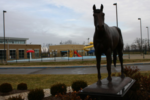 Horse statue in Versailles, Kentucky.